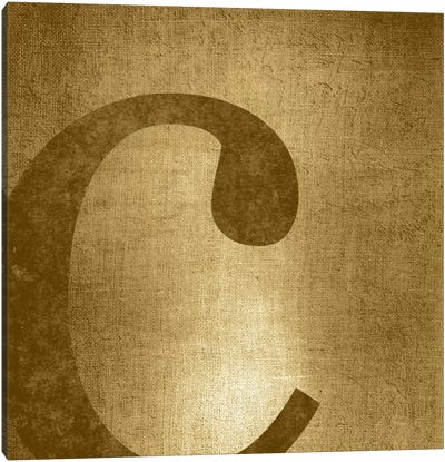 C-Gold Shimmer Canvas Art Print