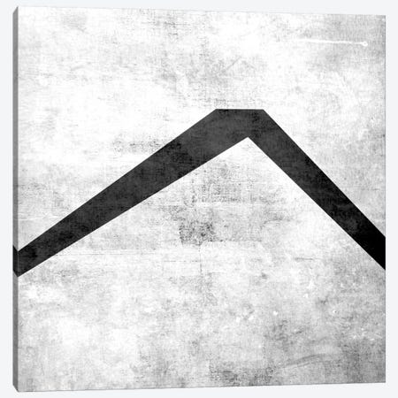 Caret-B&W Scuff Canvas Print #TOA238} by 5by5collective Canvas Print