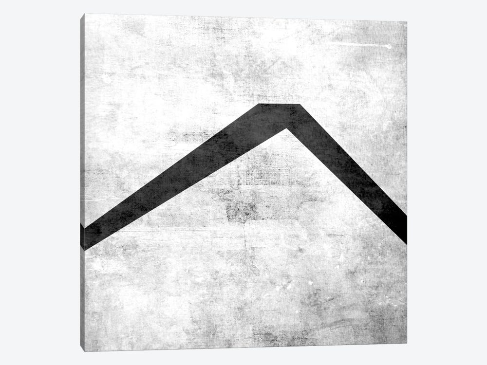 Caret-B&W Scuff 1-piece Canvas Print