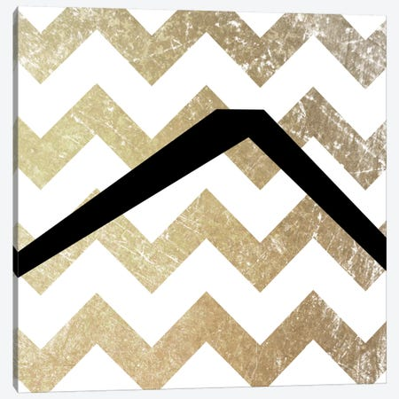 Caret-Bold Gold Chevron Canvas Print #TOA242} by 5by5collective Canvas Art