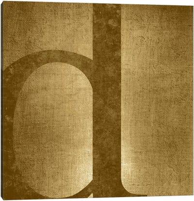 D-Gold Shimmer Canvas Art Print