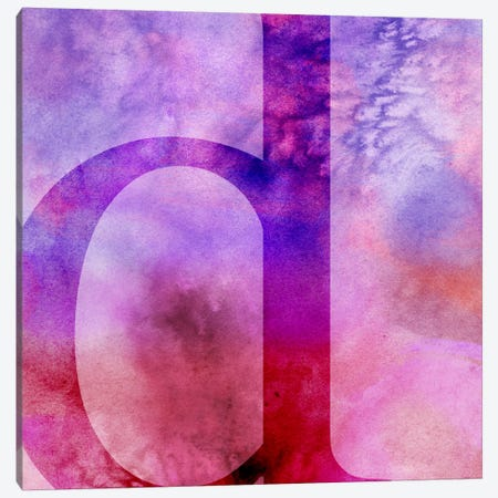 D-Purple Canvas Print #TOA247} by 5by5collective Canvas Print