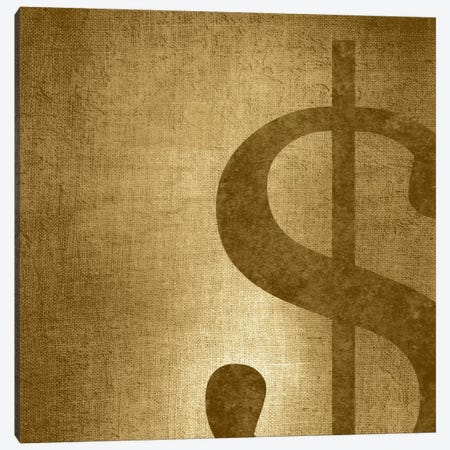 dollar sign-Gold Shimmer Canvas Print #TOA249} by 5by5collective Canvas Artwork