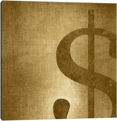 dollar sign-Gold Shimmer Canvas Art Print