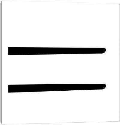 Equal2 Canvas Art Print
