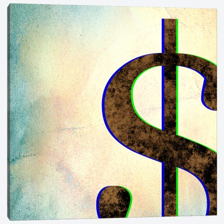 dollar sign-Insta Canvas Print #TOA251} by 5by5collective Art Print