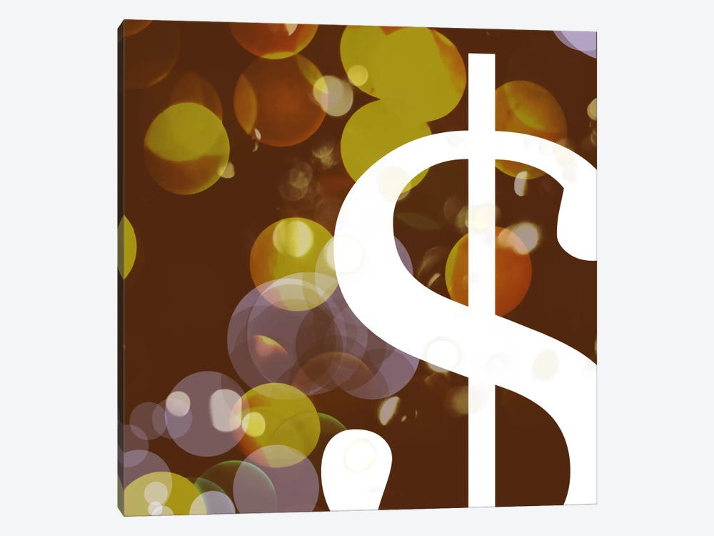 dollar sign-Pearl by 5by5collective 1-piece Canvas Print
