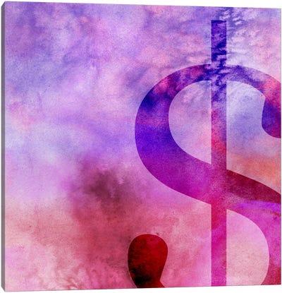 dollar sign-Purple Canvas Art Print