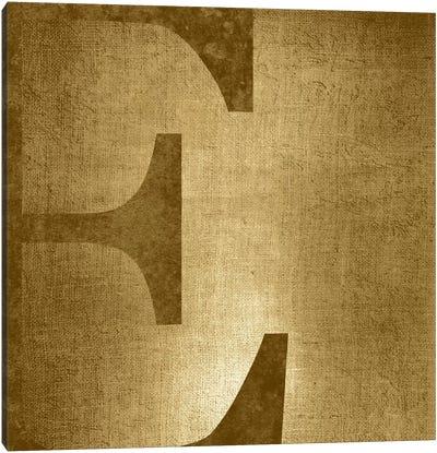 E-Gold Shimmer Canvas Art Print