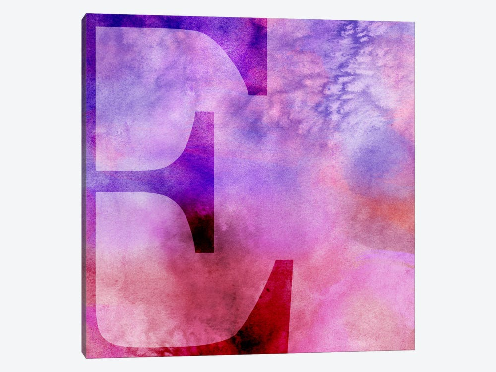E-Purple by 5by5collective 1-piece Canvas Artwork