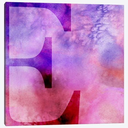 E-Purple Canvas Print #TOA259} by 5by5collective Canvas Art Print
