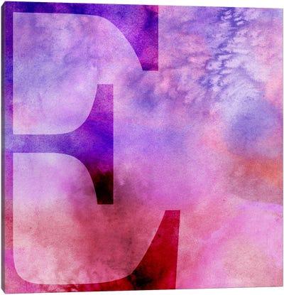 E-Purple Canvas Art Print