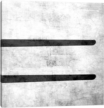 Equal-B&W Scuff Canvas Print #TOA262