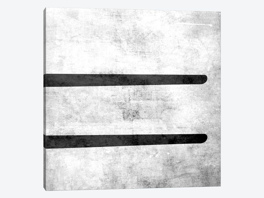 Equal-B&W Scuff by 5by5collective 1-piece Canvas Wall Art