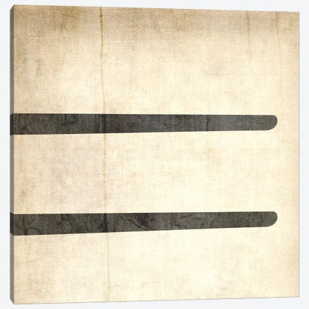 Equal-Bleached Linen Canvas Print #TOA264} by 5by5collective Canvas Print