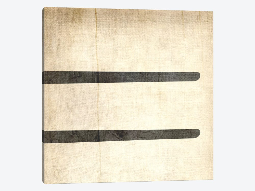 Equal-Bleached Linen by 5by5collective 1-piece Canvas Art