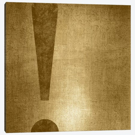 exclamation-Gold Shimmer Canvas Print #TOA267} by 5by5collective Canvas Art Print