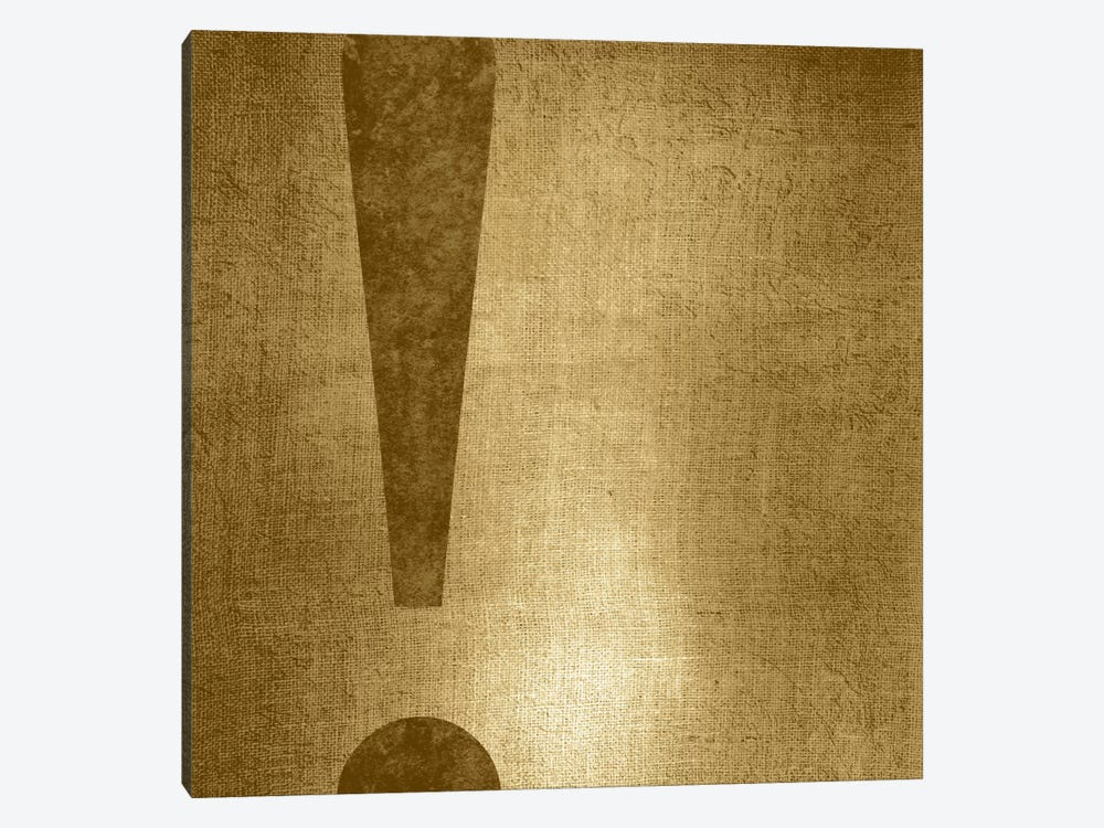 exclamation-Gold Shimmer by 5by5collective 1-piece Canvas Art Print