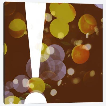 exclamation-Pearl Canvas Print #TOA270} by 5by5collective Canvas Print