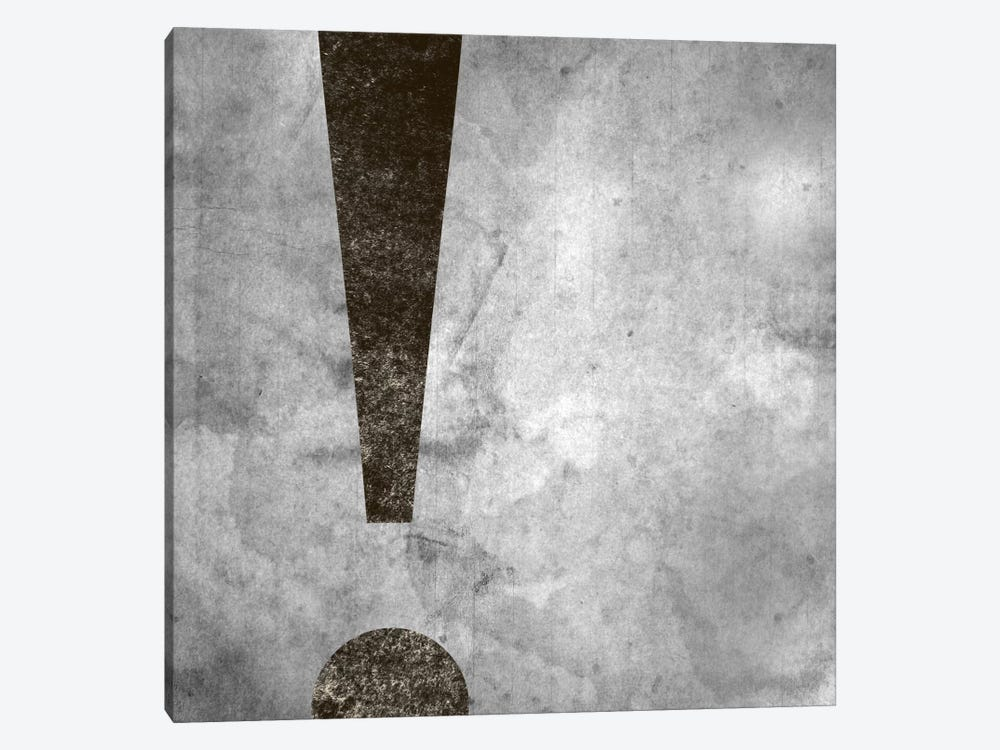 exclamation-Silver Fading by 5by5collective 1-piece Canvas Print