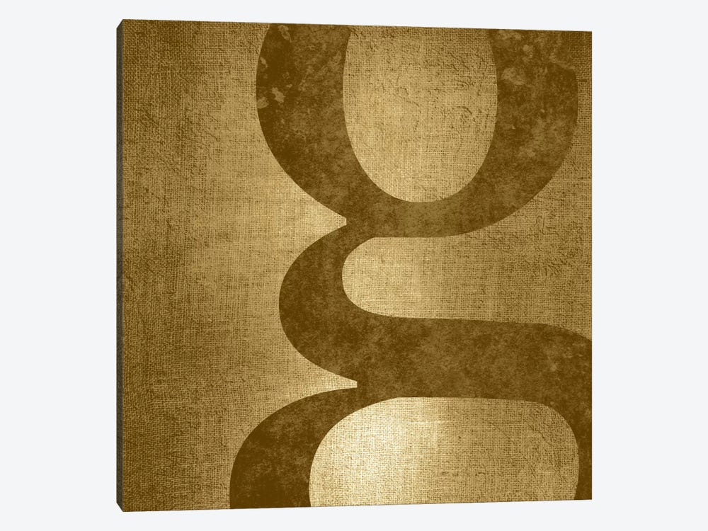 G-Gold Shimmer by 5by5collective 1-piece Canvas Wall Art