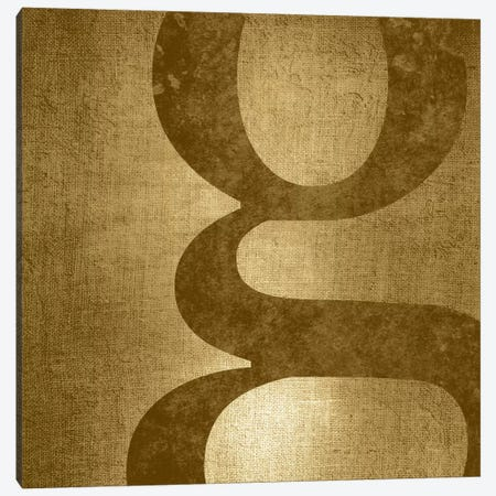 G-Gold Shimmer 3-Piece Canvas #TOA279} by 5by5collective Canvas Print