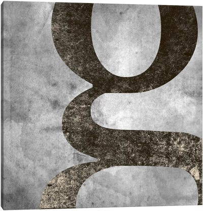 G-Silver Fading Canvas Art Print