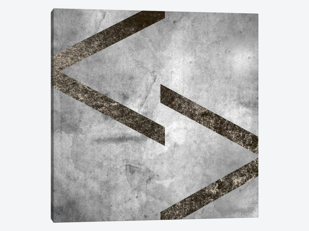 greater less than-Silver Fading by 5by5collective 1-piece Canvas Print