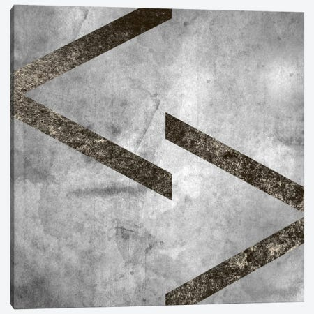 greater less than-Silver Fading Canvas Print #TOA290} by 5by5collective Art Print