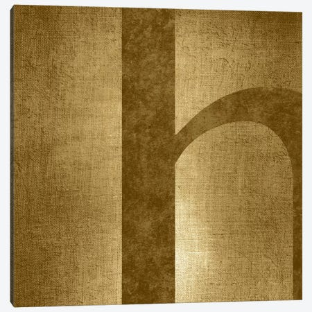 H-Gold Shimmer Canvas Print #TOA291} by 5by5collective Art Print