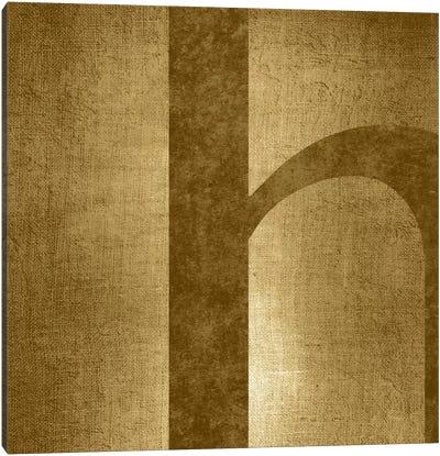 H-Gold Shimmer Canvas Art Print
