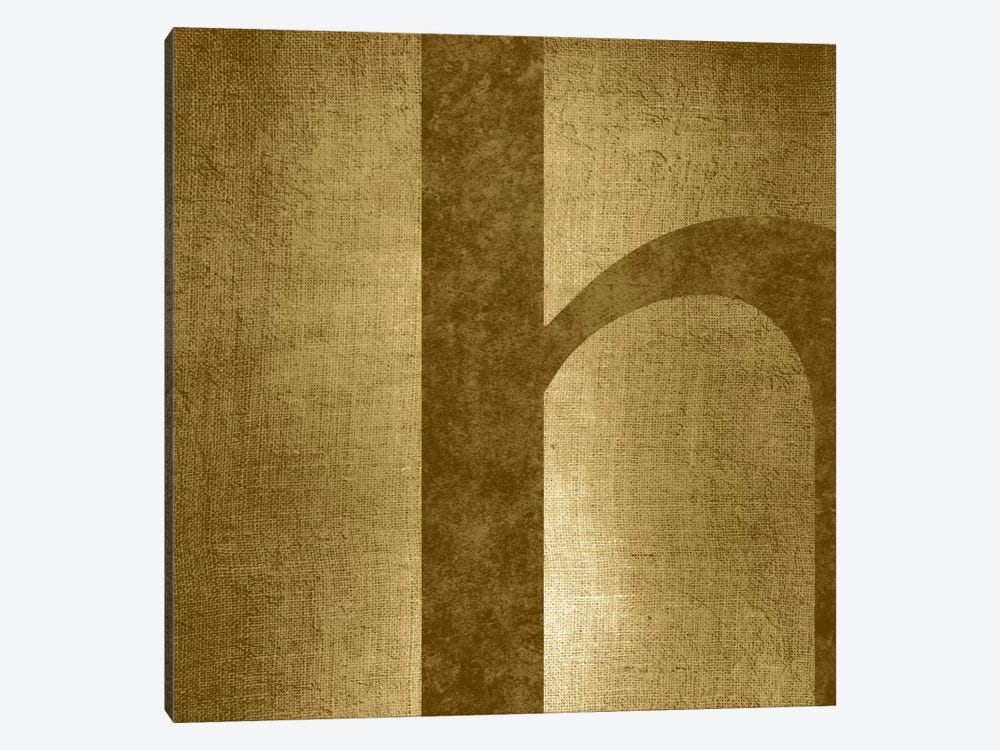 H-Gold Shimmer by 5by5collective 1-piece Canvas Artwork