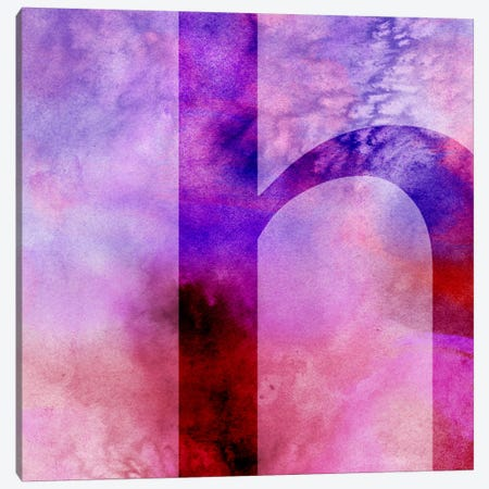 H-Purple Canvas Print #TOA295} by 5by5collective Canvas Artwork