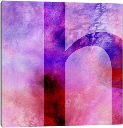 H-Purple Canvas Art Print