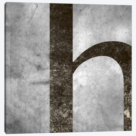 H-Silver Fading Canvas Print #TOA296} by 5by5collective Canvas Art