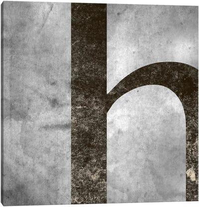 H-Silver Fading Canvas Art Print