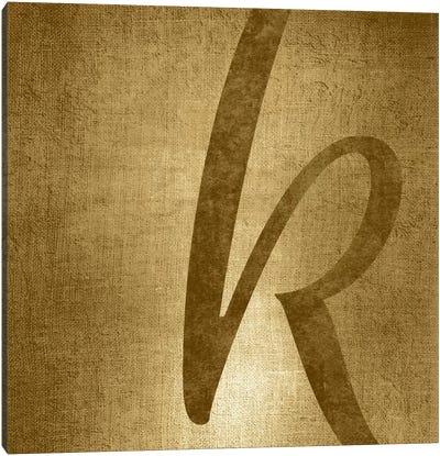 K-Gold Shimmer Canvas Art Print