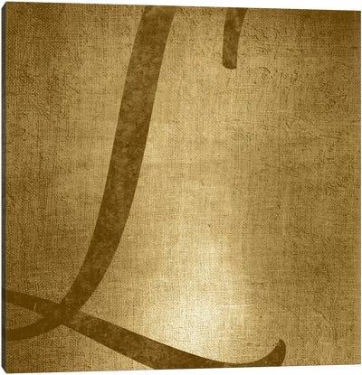 L-Gold Shimmer Canvas Art Print
