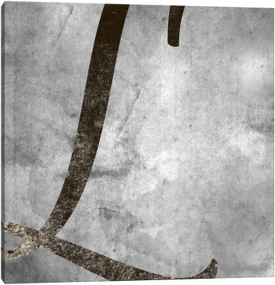 L-Silver Fading Canvas Art Print