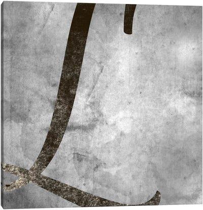 L-Silver Fading Canvas Art Print