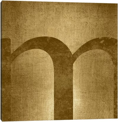 M-Gold Shimmer Canvas Print #TOA321