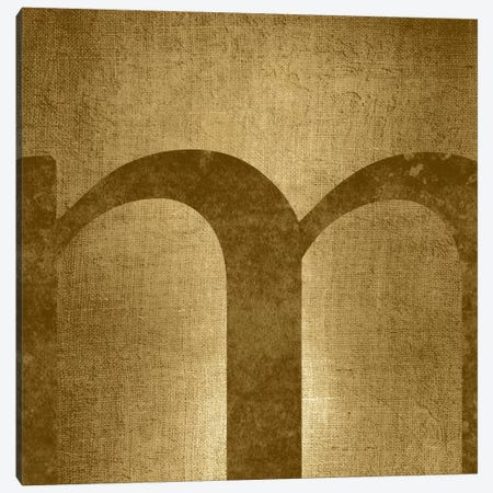 M-Gold Shimmer Canvas Print #TOA321} by 5by5collective Canvas Print