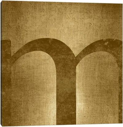M-Gold Shimmer Canvas Art Print