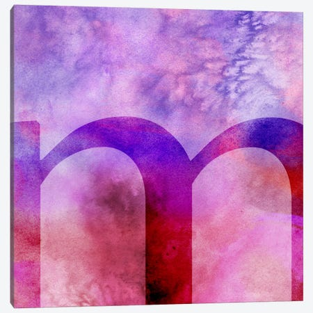 M-Purple Canvas Print #TOA325} by 5by5collective Canvas Artwork