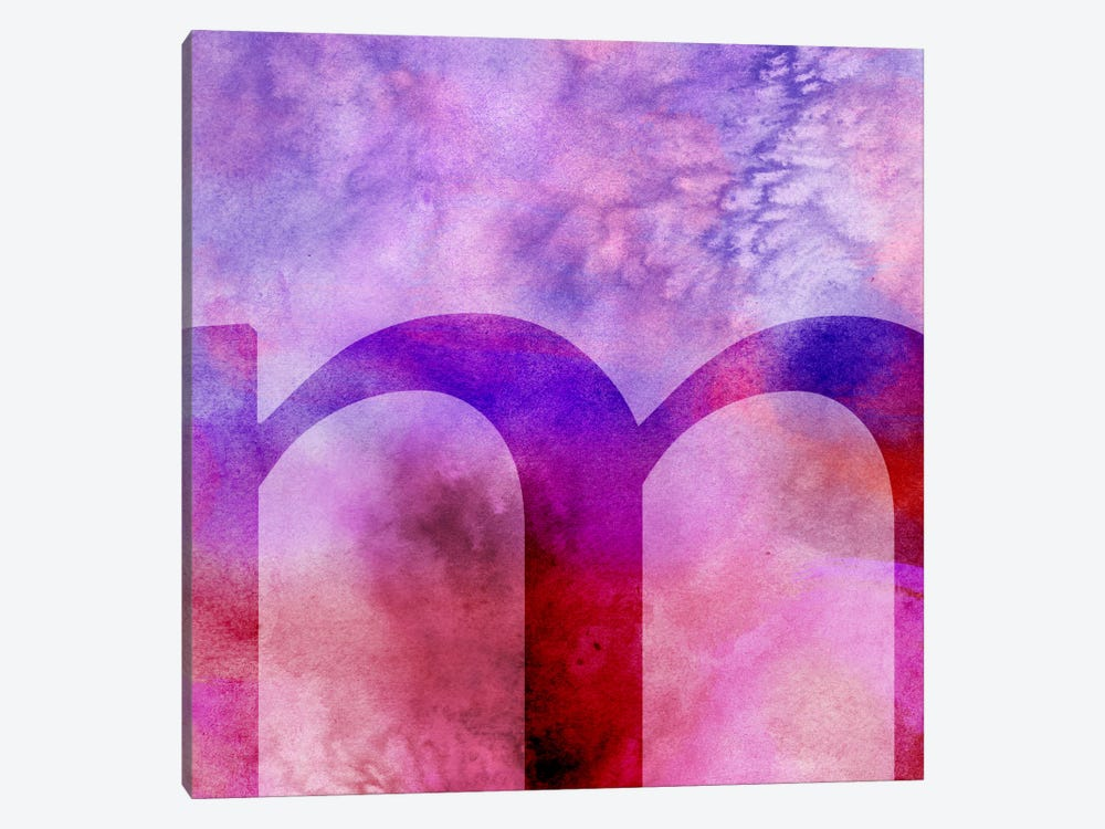 M-Purple by 5by5collective 1-piece Canvas Art