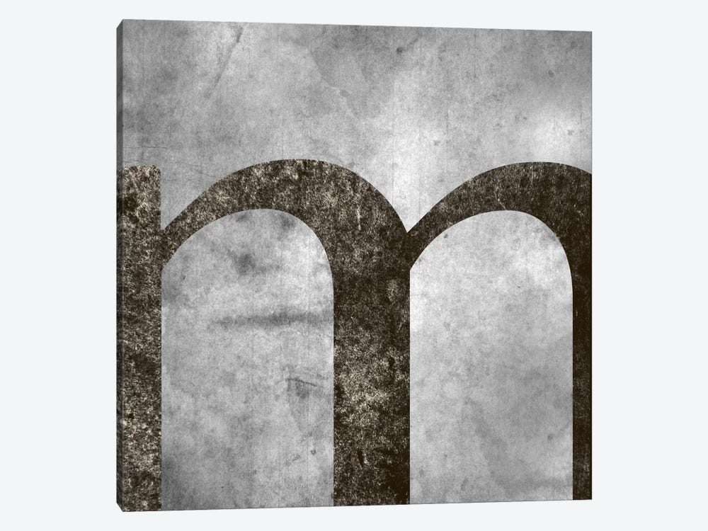 M-Silver Fading by 5by5collective 1-piece Canvas Print