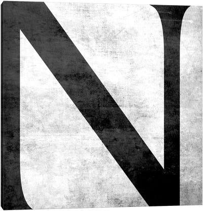N-B&W Scuff Canvas Art Print