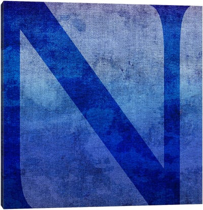 N-Blue To Purple Stain Canvas Art Print