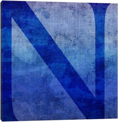N-Blue To Purple Stain Canvas Art Print