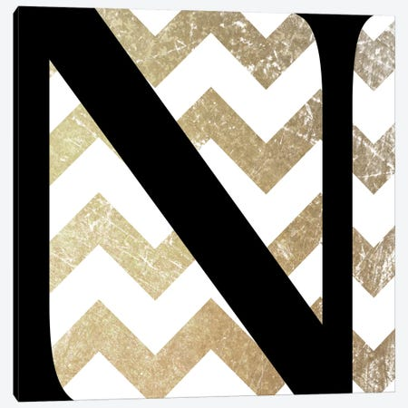N-Bold Gold Chevron Canvas Print #TOA332} by 5by5collective Canvas Art